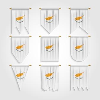 Zypern flagge in verschiedenen formen