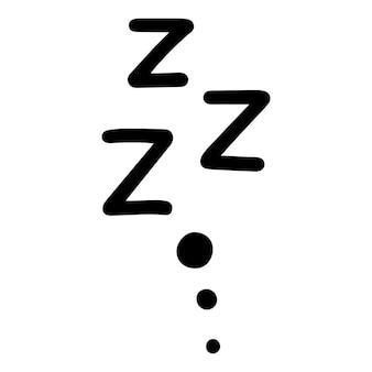 Zzz-schlafsymbol.