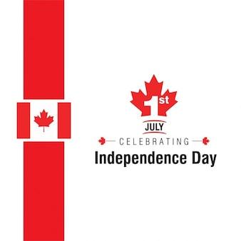 01 de julho comemorando a independência dia do canadá