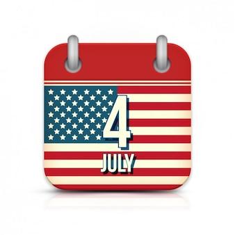 04 de julho do calendário americano