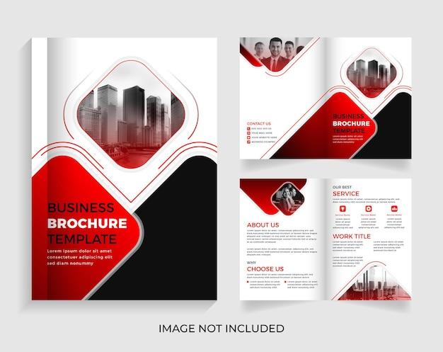 04 página corporate creative business brochure design premium vector