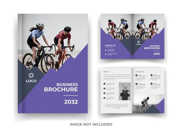 04 página design de brochura de negócios e relatório anual e modelo de revista
