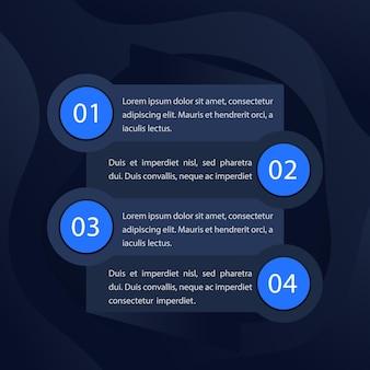 1, 2, 3, 4 etapas, cronograma, gráfico de progresso, elementos vetoriais de infográficos para web
