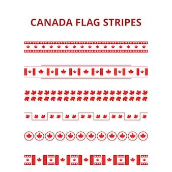 1 de julho bandeira feliz de canadá do dia canadá listra o teste padrão