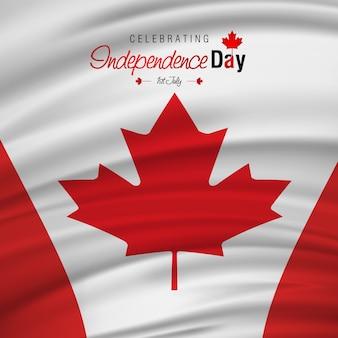 1 de julho dia feliz de canadá bandeira de ondulação de canadá