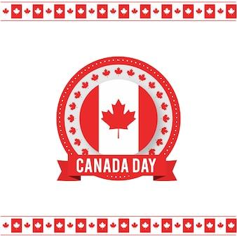 1 de julho dia feliz do canadá bandeira da bandeira do canadá no fundo branco