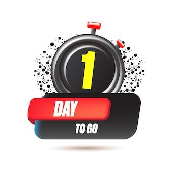 1 dia para ir para o modelo de design de banner