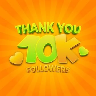 10.000 seguidores obrigado modelo de mídia social