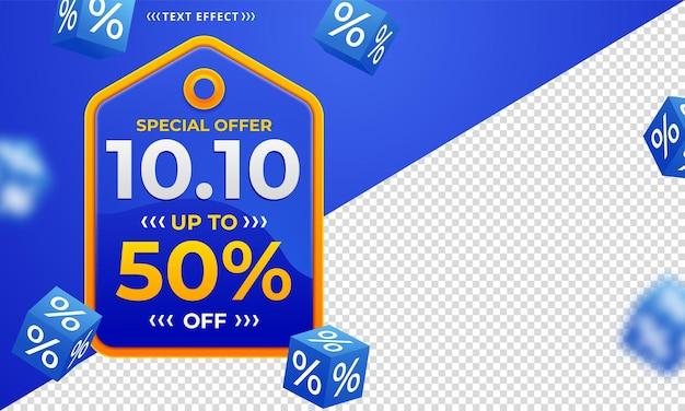 10.10 banner de venda do dia de compras online