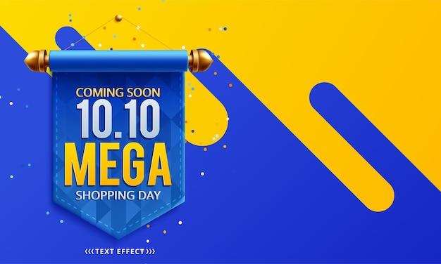 10.10 design de pôster ou folheto de venda do dia de compras