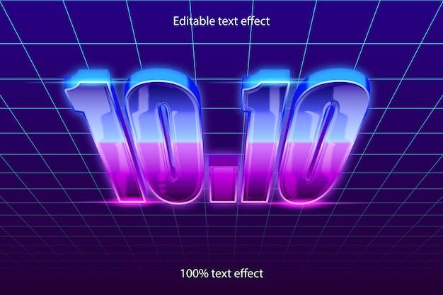 10.10 estilo retro com efeito de texto editável