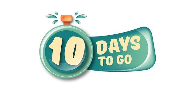 10 dias para ir para o modelo de design de banner