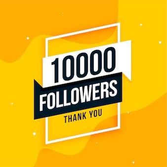 10 mil seguidores de mídia social obrigado postar design