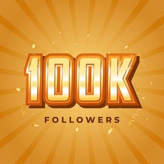 100.000 seguidores nas redes sociais