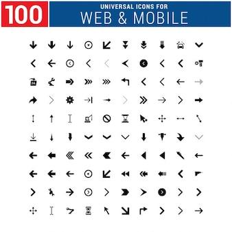 100 ícone universal