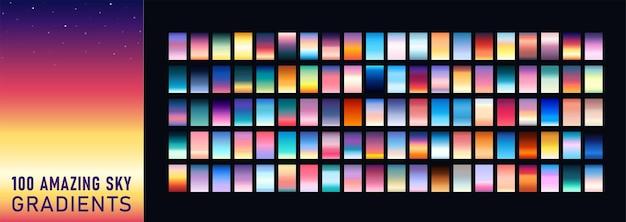 100 incrível conjunto de fundo gradientes do céu
