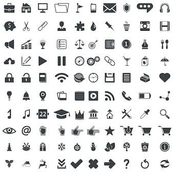 100 pictogramas vetor universais