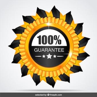 100 por cento selo de garantia