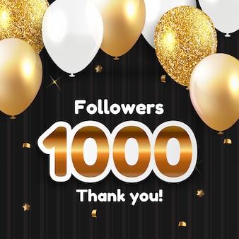 1000 seguidores, obrigado por amigos das redes sociais