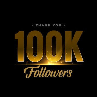 100k seguidores e conexões da rede de mídia social