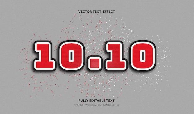 1010 grande promoção com efeito de texto editável de estilo moderno