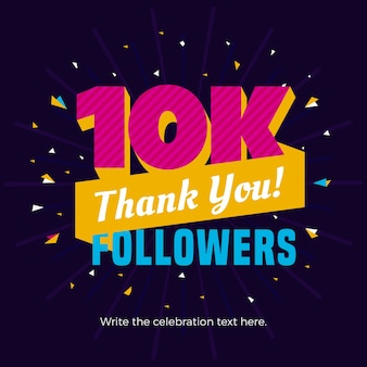 10k followers banner