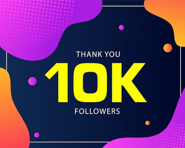 10k seguidores abstrato