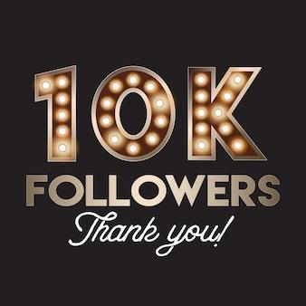 10k seguidores obrigado bandeira