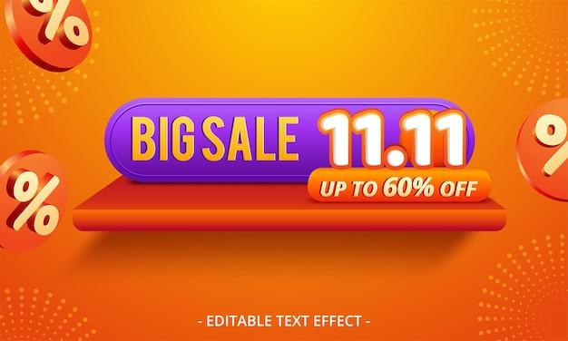 11.11 fundo do banner de venda do dia de compras