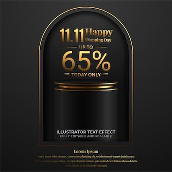11.11 ilustração em vetor banner super sale