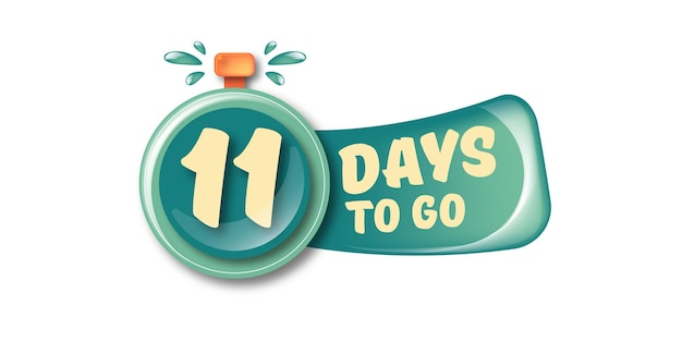 11 dias para ir para o modelo de design de banner