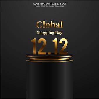 12.12 fundo do banner de venda do dia de compras
