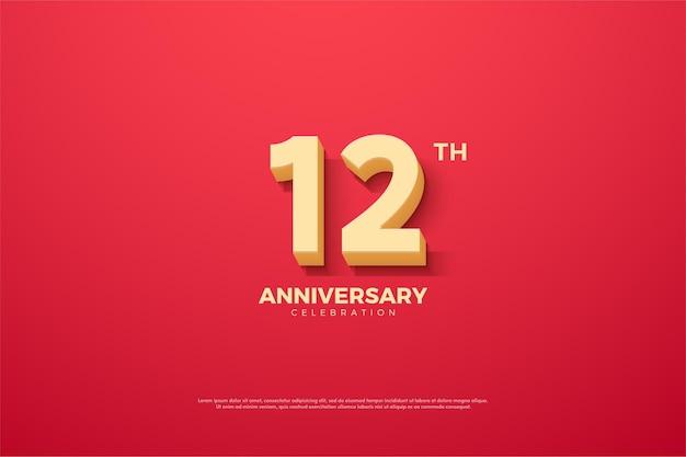 12º aniversário com animação numérica