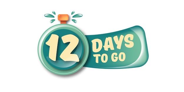 12 dias para ir para o modelo de design de banner