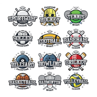 12 logo vector de esporte