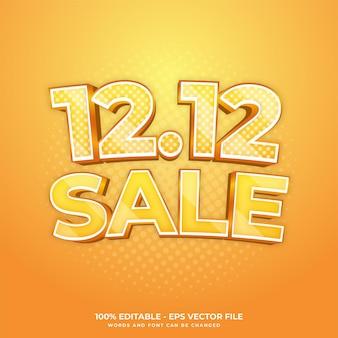 1212 efeito de texto de fundo de pôster de dia especial de compras