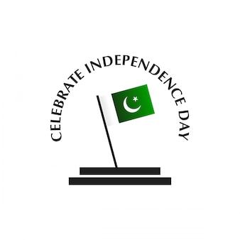 14 de agosto saudações de independência do paquistão