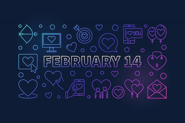 14 de fevereiro banner