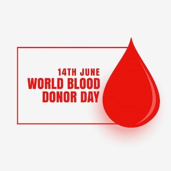 14 de junho mundo doador de sangue dia conceito cartaz design