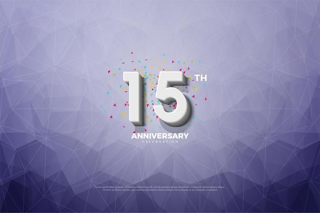 15º aniversário usando papel cristalizado