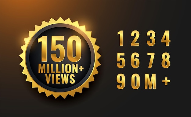 150 milhões de visualizações golden label design