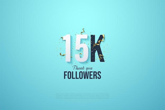 15k seguidores com números e festas.