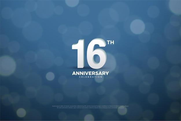 16º aniversário com bokeh