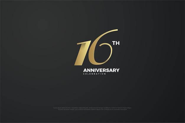 16º aniversário com número único