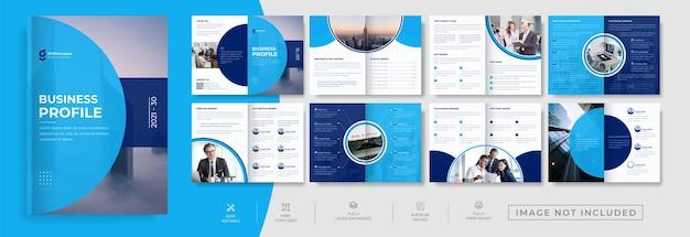 16 páginas plana minimalista apresentação de negócios guia modelo de brochura design