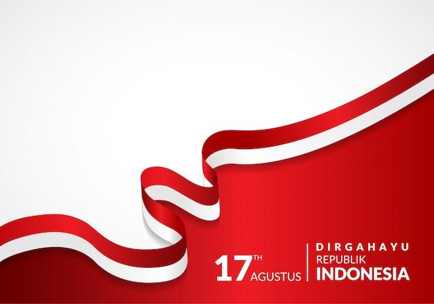 17 de agosto. cartão feliz do dia da independência de indonésia