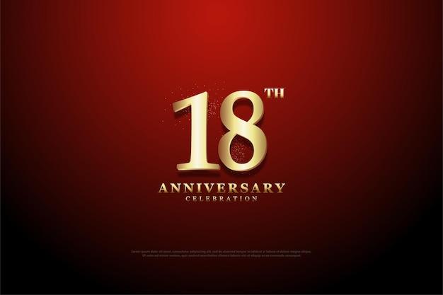 18º aniversário com fundo de vinheta