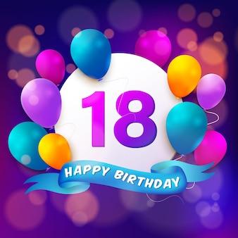 18º feliz aniversário