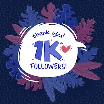 1k seguidores