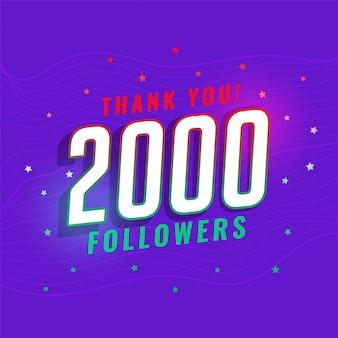 2.000 seguidores de redes sociais pós-design